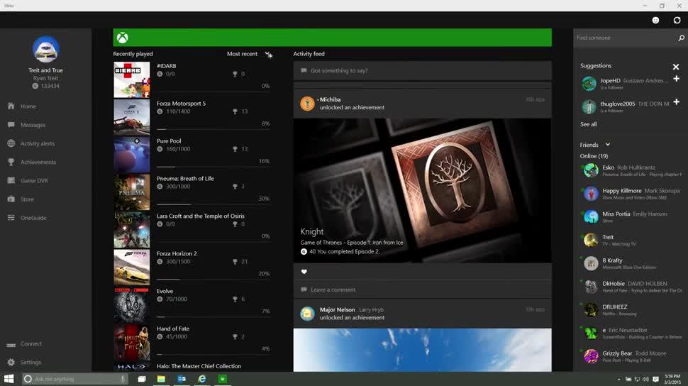 Microsoft, Windows, Windows 10, App, Xbox, Xbox One, Microsoft Xbox One, Larry Hryb, Xbox-App