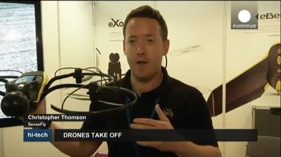 Drohne, Drohnen, EuroNews, Quadrocopter, SkyTech, AscTec Falcon 8, Octocopter, Topcon, Multirotor G4, Sensefly, eBee, eXom