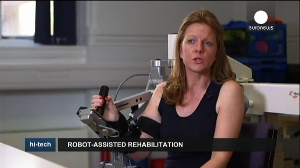 Roboter, EuroNews, Therapie, Exoskelett, Schlaganfall, Gymnastik, Lähmungen, National Hospital for Neurology and Neurosurgery