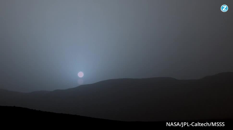 Weltraum, Nasa, Mars, Curiosity, Sonne, Mars-Rover, Sonnenuntergang