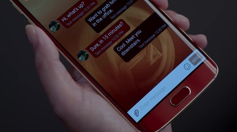 Smartphone, Samsung, Marvel, Galaxy S6 Edge, Iron Man, Avangers