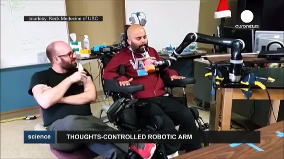 Roboter, EuroNews, Prothese, Gedankensteuerung, Roboterarm, Neuroprothesen, Gehrin