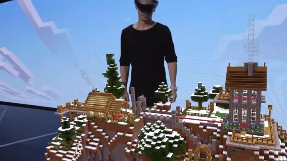 Microsoft, E3, Minecraft, HoloLens, Microsoft HoloLens, E3 2015, Minecraft for HoloLens