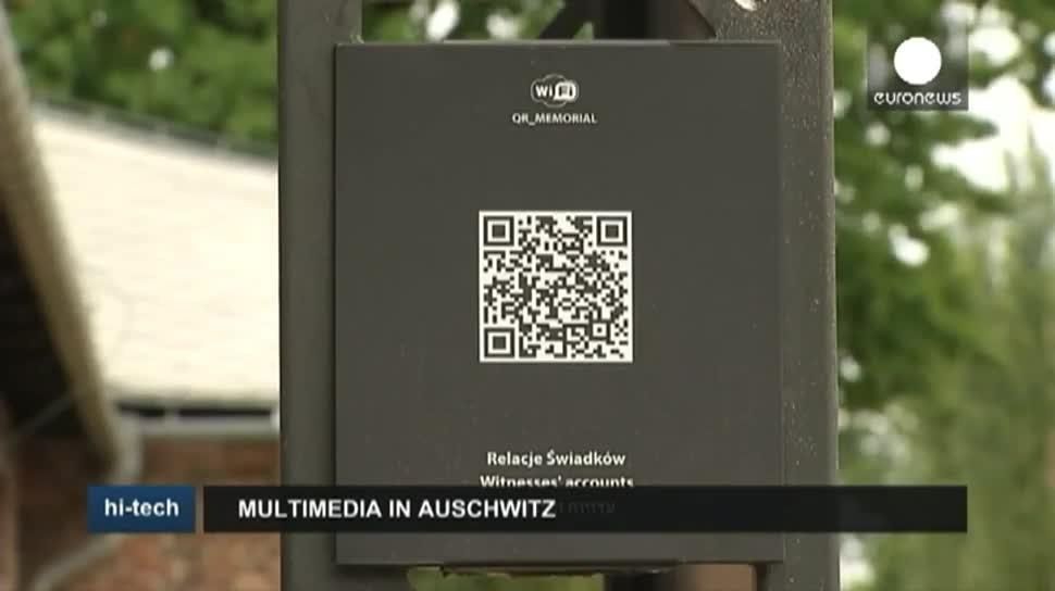 Smartphone, Tablet, EuroNews, QR-Code, Zweiter Weltkrieg, Zeitzeugen, Auschwitz, Auschwitz-Birkenau
