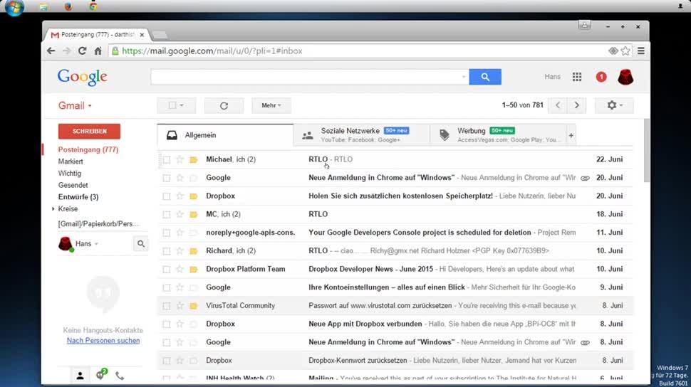 Google, E-Mail, Gmail, SemperVideo, Undo