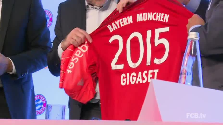 Fußball, gigaset, Sponsor, FC Bayern München