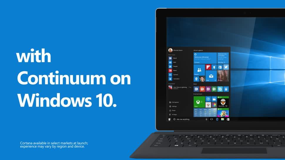 Microsoft, Smartphone, Betriebssystem, Windows, Windows 10, Tablet, Desktop, Touch, Desktop-PC, Continuum, Windows 10 Continuum, 10 Gründe für Windows 10