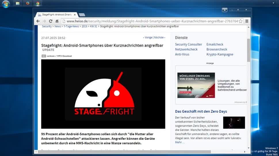 Android, Sicherheitslücke, SemperVideo, Hangouts, Workaround, Stagefright, Mms