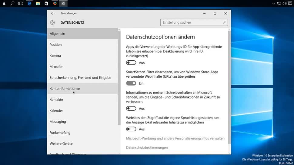Microsoft, Betriebssystem, Windows 10, Datenschutz, SemperVideo