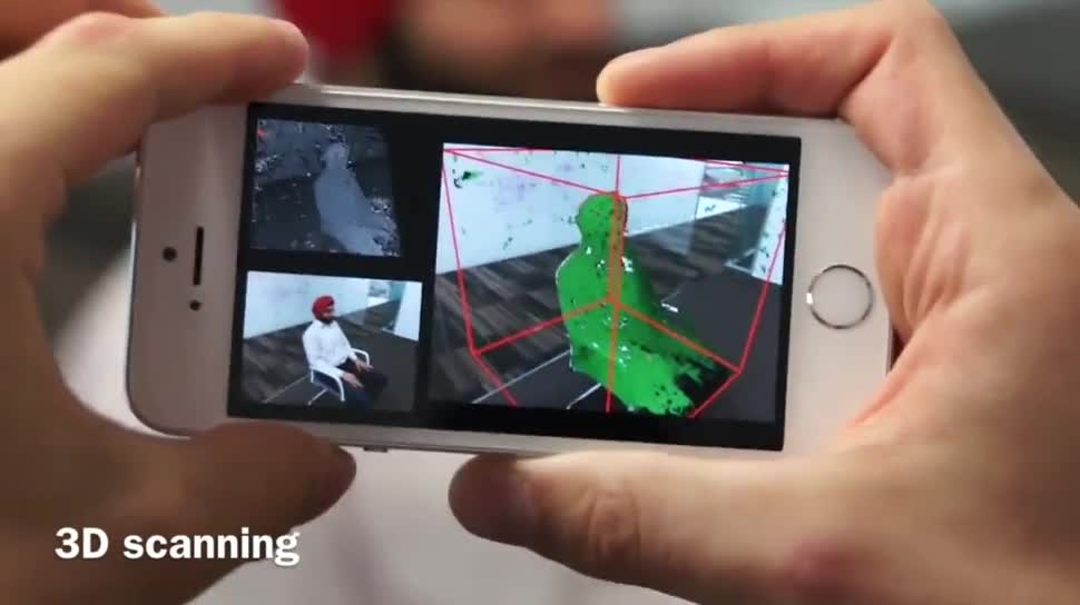 Microsoft, Smartphone, Forschung, Kamera, 3d, Microsoft Research, Research, Scanner, 3D-Scanner, MobileFusion