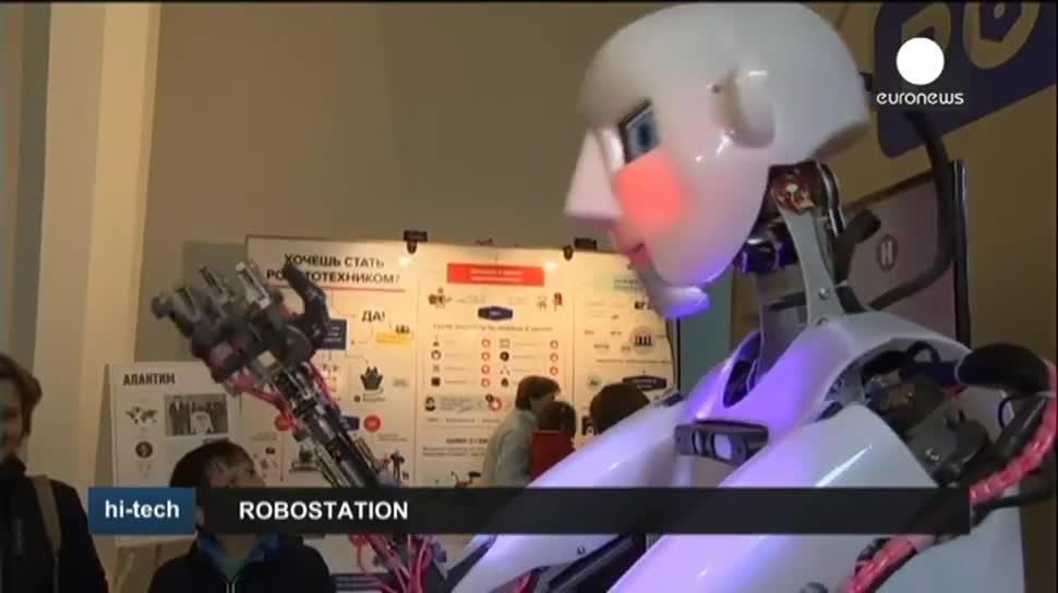 Roboter, EuroNews, Ausstellung, Robostation, Thespian, Cubinator