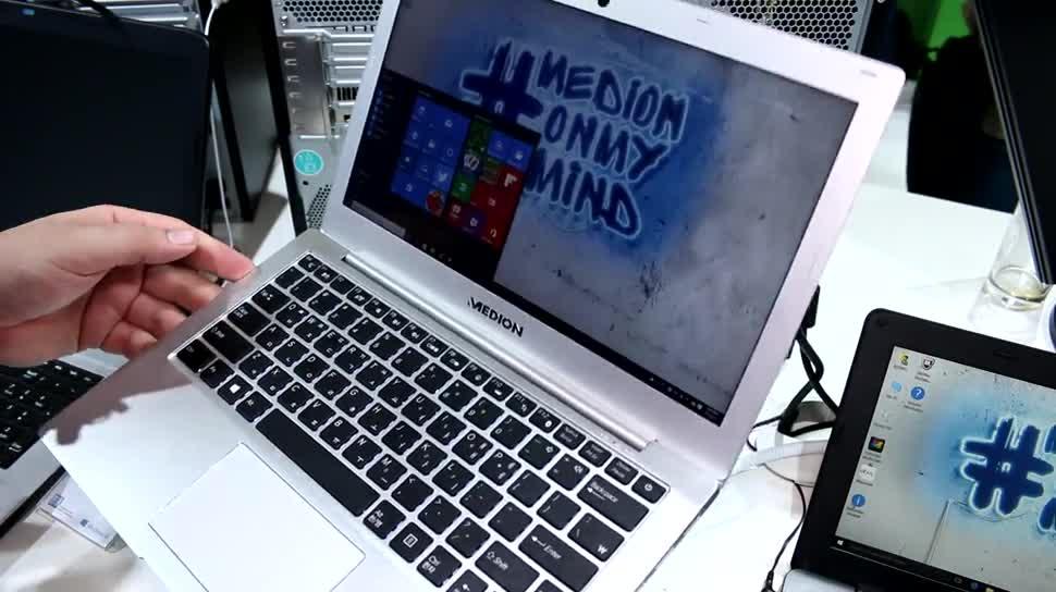 Windows 10, Notebook, Ultrabook, Medion, IFA 2015, Skylake, Akoya, S4301