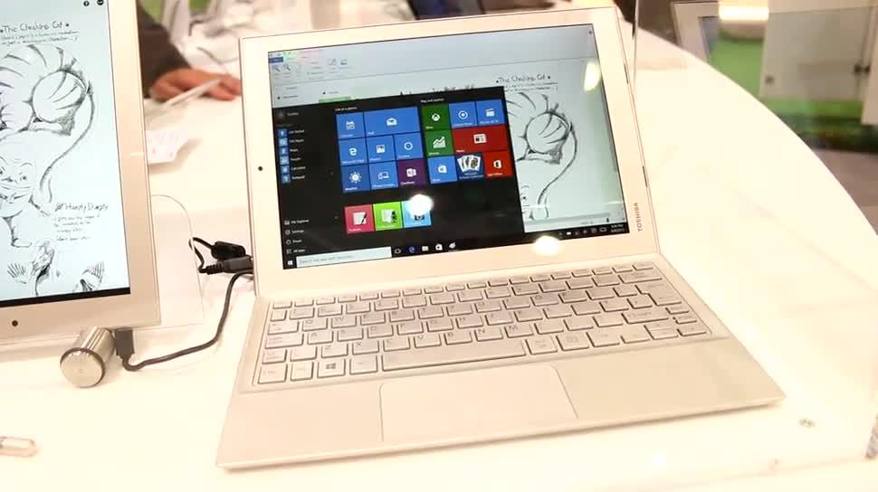 Toshiba, Prototyp, IFA 2015, 2-in-1-Tablet