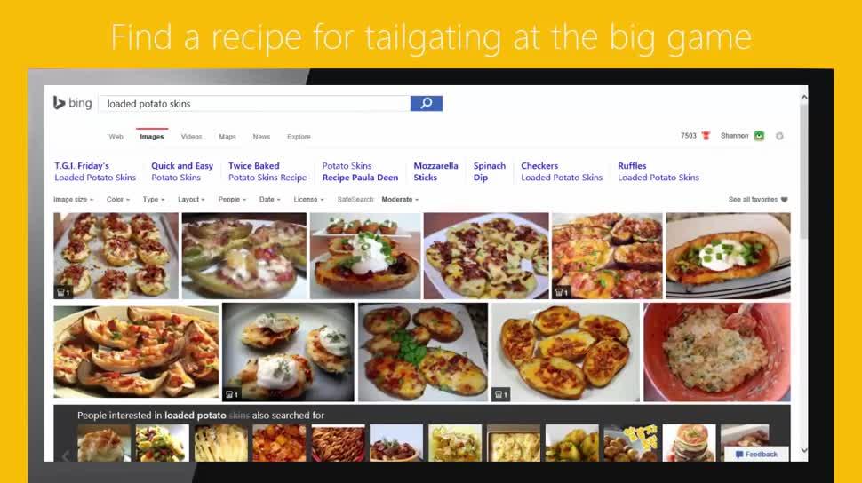 Microsoft, Suchmaschine, Bing, Bildersuche, Rezepte