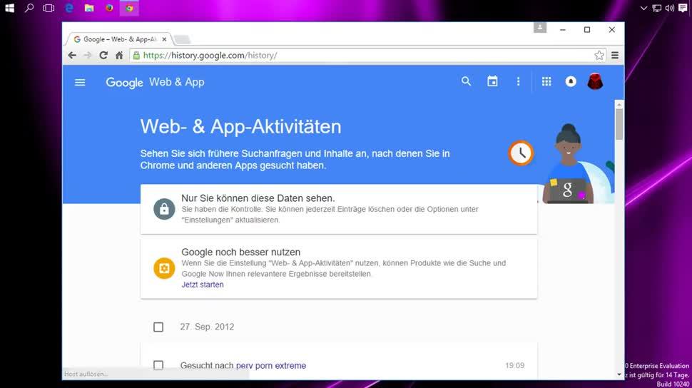 Google, Suchmaschine, Suche, SemperVideo, History