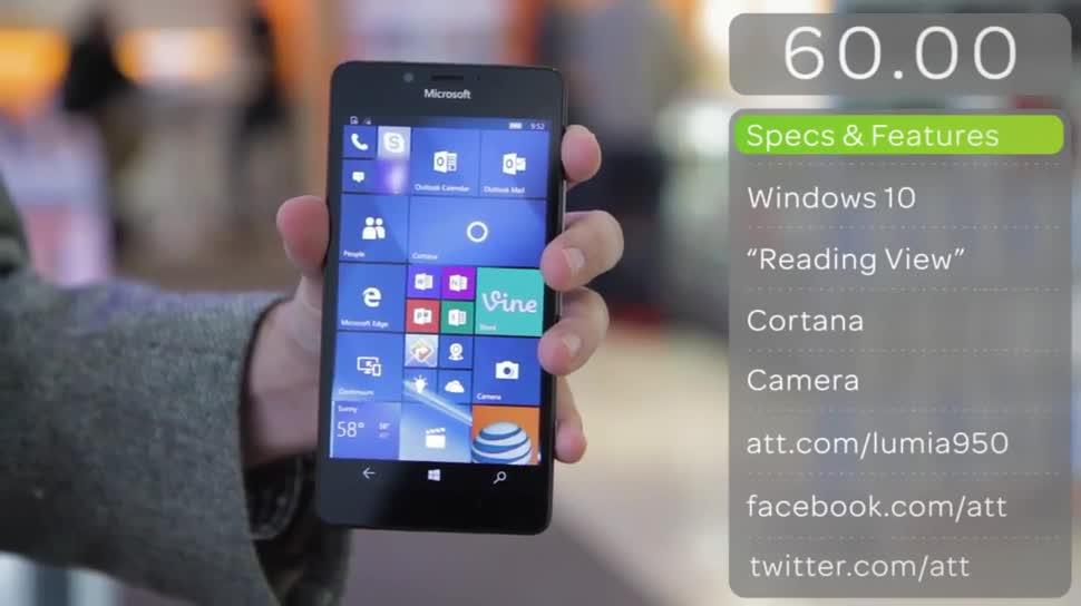 Microsoft, Smartphone, Windows 10 Mobile, Werbung, Werbespot, AT&T, Lumia 950, Microsoft Lumia 950, Netzbetreiber, Spot, Mobilfunkanbieter