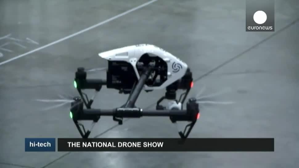 Wirtschaft, Drohne, Drohnen, EuroNews, Drohnen-Messe, National Drone Show, Tornado H920, Intelligentuas, Yumee Electric Aviation