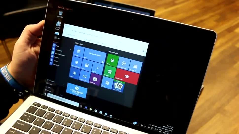 Windows 10, Tablet, Intel, Laptop, Test, Hands-On, Hp, Tastatur, Hands on, Hewlett-Packard, Keyboard, Stylus, Review, Cover, Skylake, Intel Core M, Core M, HP Elite X2 1012, HP Spectre X2