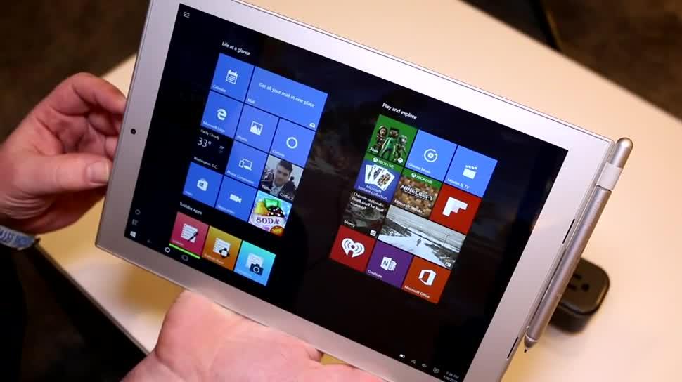 Windows 10, Tablet, Ces, Toshiba, Stylus, Intel Atom, Atom, CES 2016, Wacom, Toshiba DynaPad N72, Toshiba DynaPad