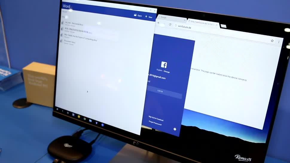 Android, Windows 10, Tablet, Hands-On, Desktop, Ces, Hands on, CES 2016, Multitasking, Jide, Remix OS, Remix