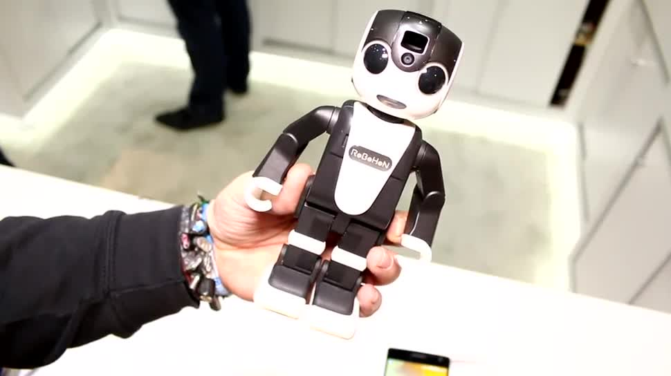 Smartphone, Android, Ces, Roboter, Sharp, CES 2016, RoBoHoN