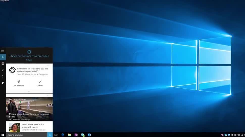Microsoft, Windows 10, Windows, Sprachassistent, Cortana, Microsoft Cortana, Erinnerung