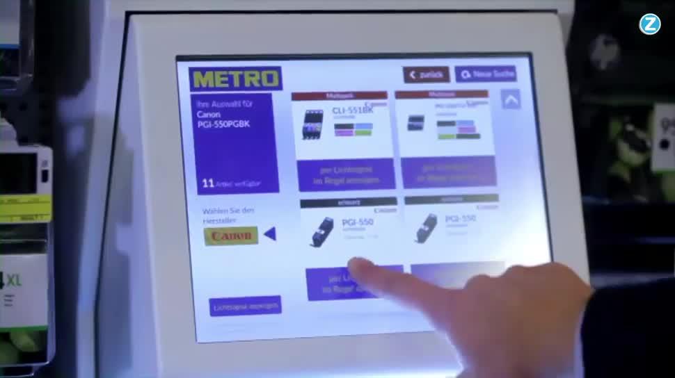 Zoomin, Metro, Drucker, Einkauf, Druckertinte, Findbox