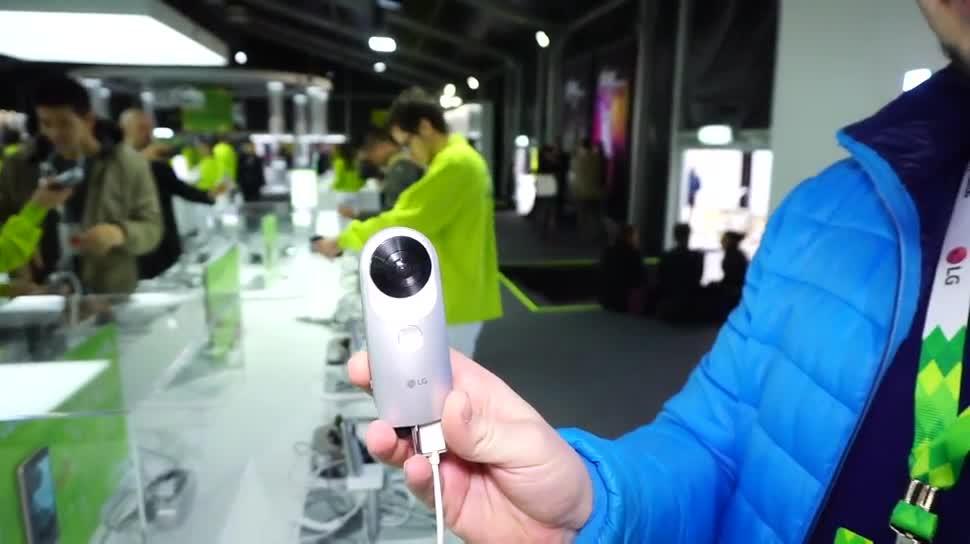 Smartphone, LG, Kamera, Hands-On, Mwc, Hands on, Mobile World Congress, LG Electronics, Mwc 2016, Daniil Matzkuhn, tblt, LG G5, 360 Grad, G5, 360 Grad Kamera, LG 360 Cam