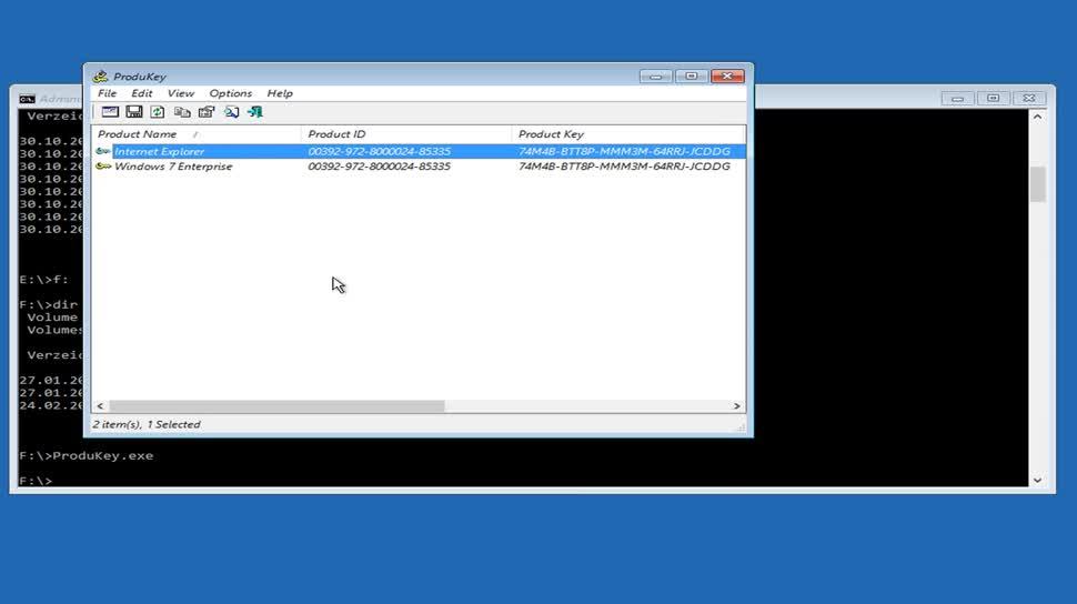 windows 7 seriennummer auslesen