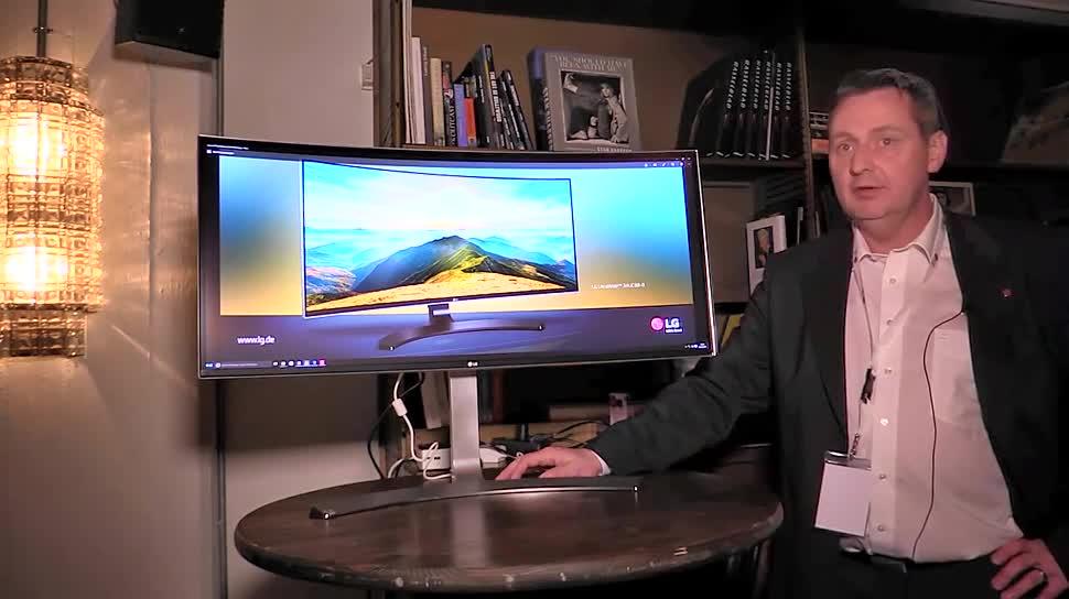 LG, LG Electronics, Monitor, NewGadgets, Beamer, Curved Display, Mini-Beamer, UC98, PH550, PW1500