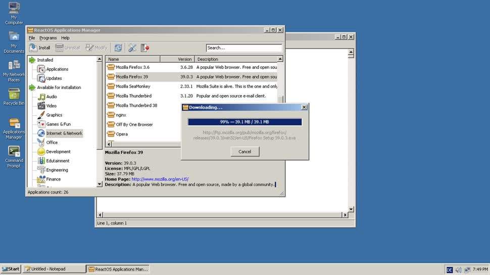 Betriebssystem, Open Source, Reactos, Windows NT, Alphaversion