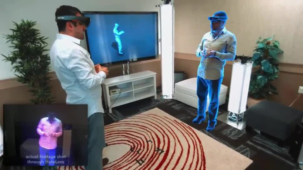 Microsoft, VR, Augmented Reality, Augmented-Reality, HoloLens, Microsoft HoloLens, Windows Holographic, Hologramm, Holoportation