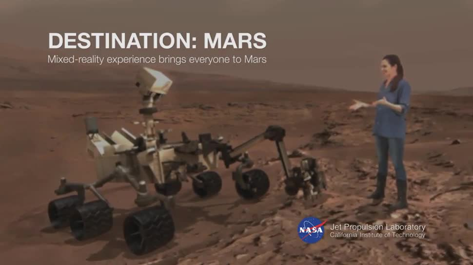 Forschung, Augmented Reality, Weltraum, Nasa, HoloLens, Mars, Mixed Reality, Build 2016, Curiosity, Mars-Rover, kennedy space center, Destination Mars, Buzz Aldrin