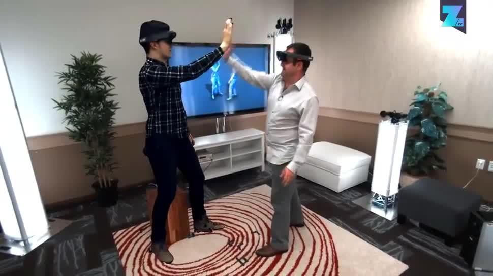 Microsoft, Zoomin, Kommunikation, Augmented Reality, HoloLens, Microsoft HoloLens, Holoportation