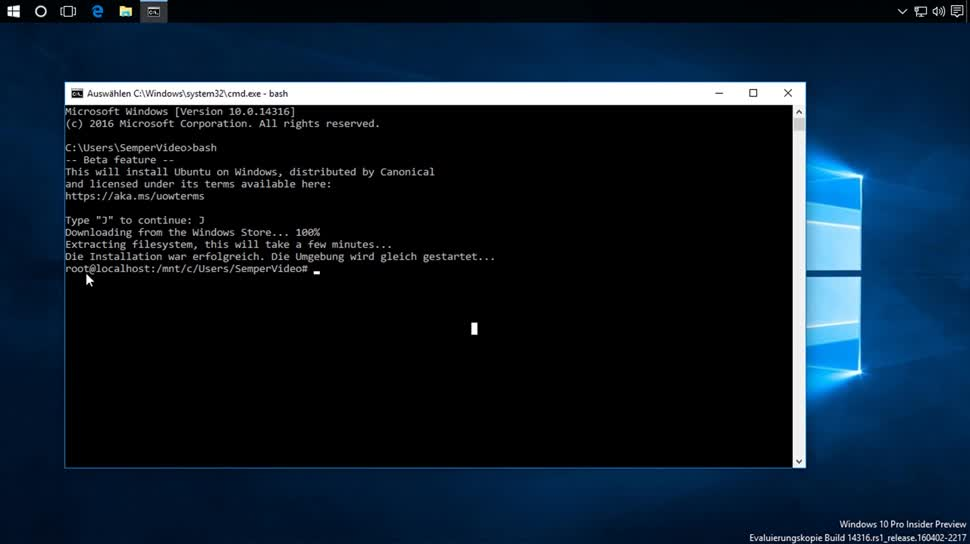 Microsoft, Windows, Windows 10, SemperVideo, Ubuntu, Bash, Bash Shell