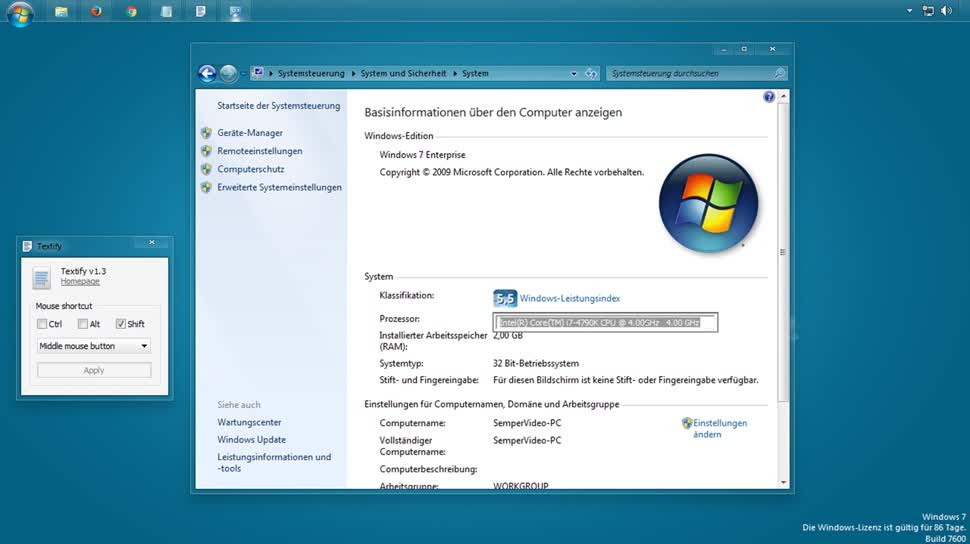 Software, SemperVideo, Kopieren, Texte, Textify