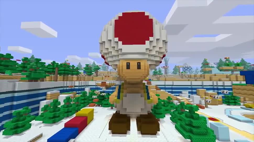 Nintendo, Minecraft, mojang, Super Mario, Super Mario Mash-Up Pack