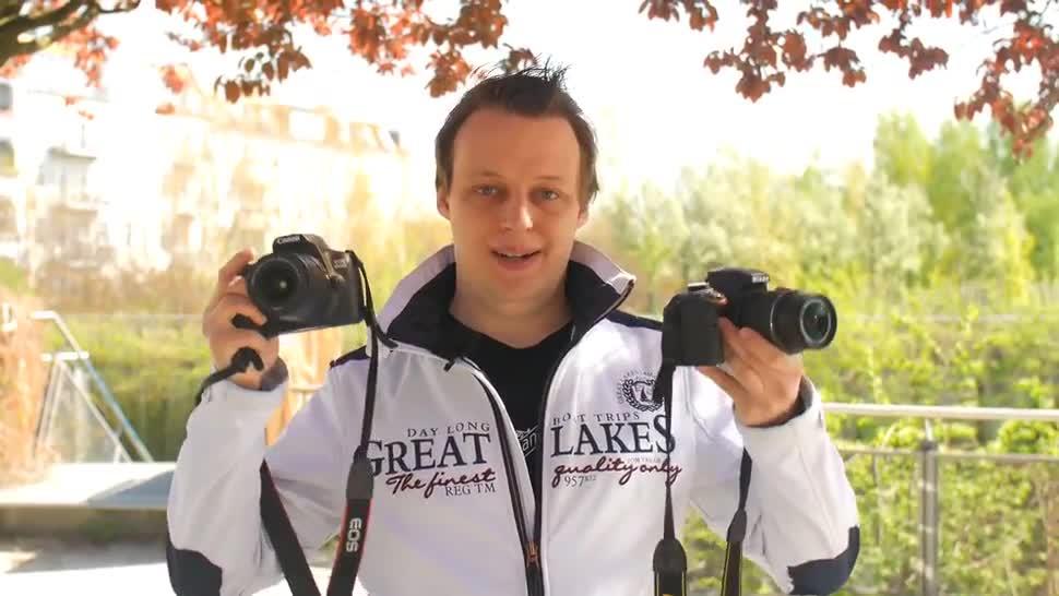Die Dslr Kameras Canon Eos 1300d Und Nikon D3300 Im Vergleich