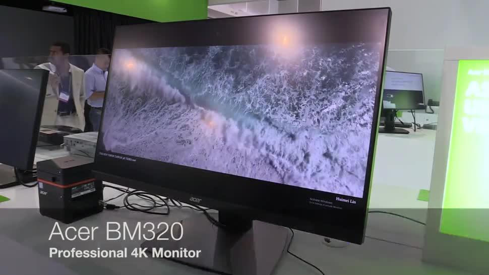 Acer, 4K, Computex, Monitor, NewGadgets, Johannes Knapp, UHD, Computex 2016, Acer BM320, BM320