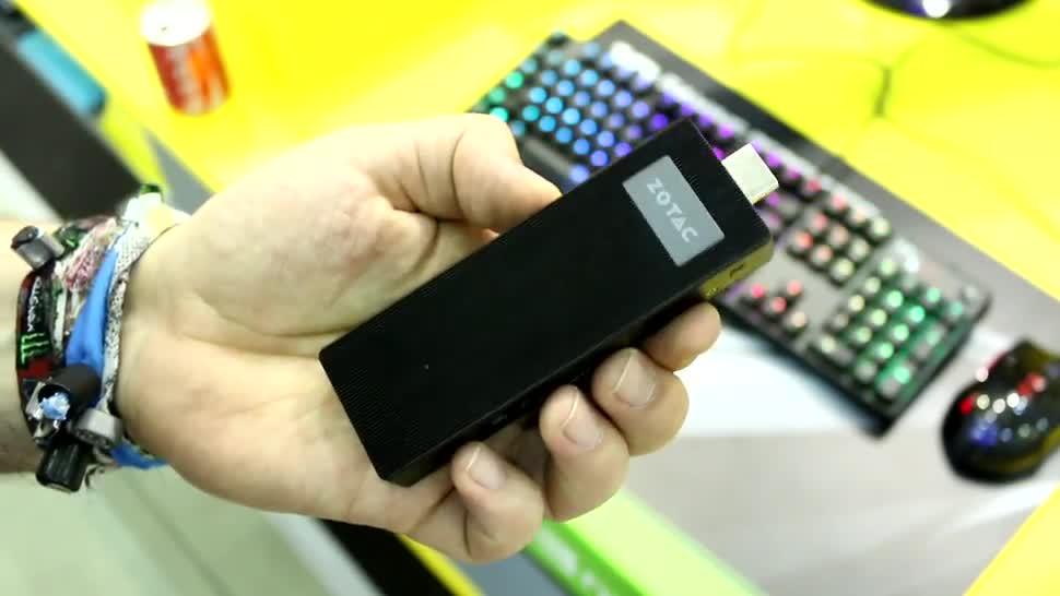 Windows 10, Hands-On, Hands on, Computex, Computex 2016, Stick-PC, HDMI-Stick, Zotac, Stick PC, Zotac Zbox PI221