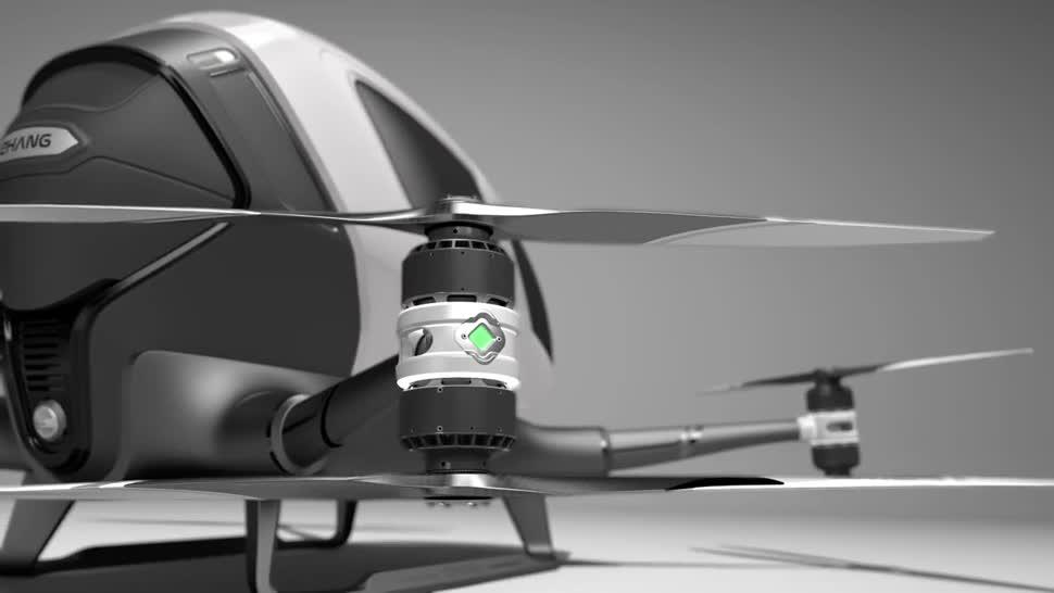 Drohne, Fliegen, Luftfahrt, Multicopter, Ehang 184