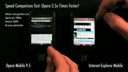 Browser, Opera, Opera Mobile, Opera Mobile 9.5, Smartphone Browser