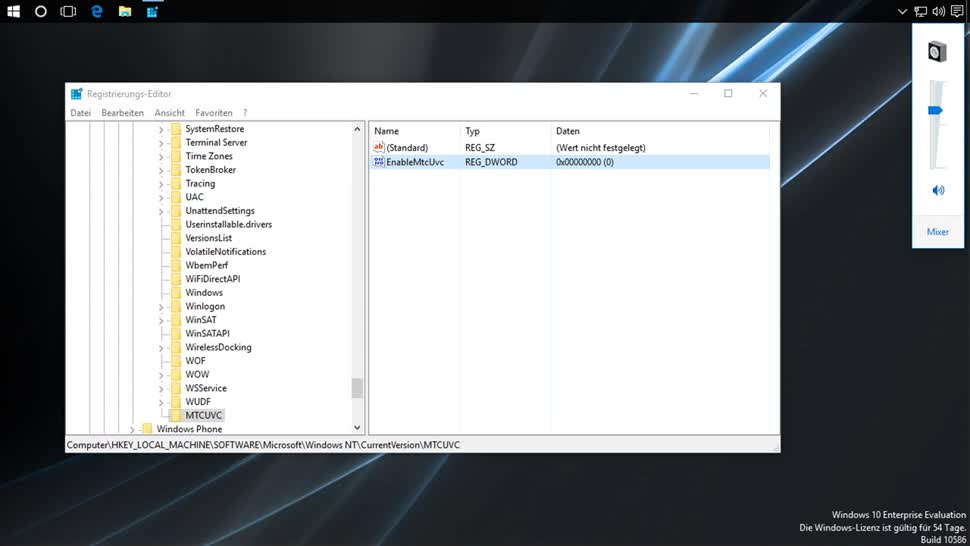 Microsoft, Betriebssystem, Windows 10, Gui, Lautstärke