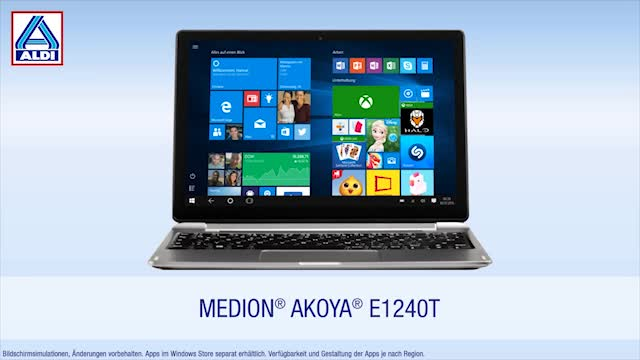 Windows 10, Tablet, Notebook, Intel, Laptop, Quadcore, 2-in-1, Medion, Aldi, ALDI Nord, Windows 10 Tablet, Medion Akoya, Intel Atom x5-Z8350, Medion Akoya E1240T, E1240T, Medion E1240T