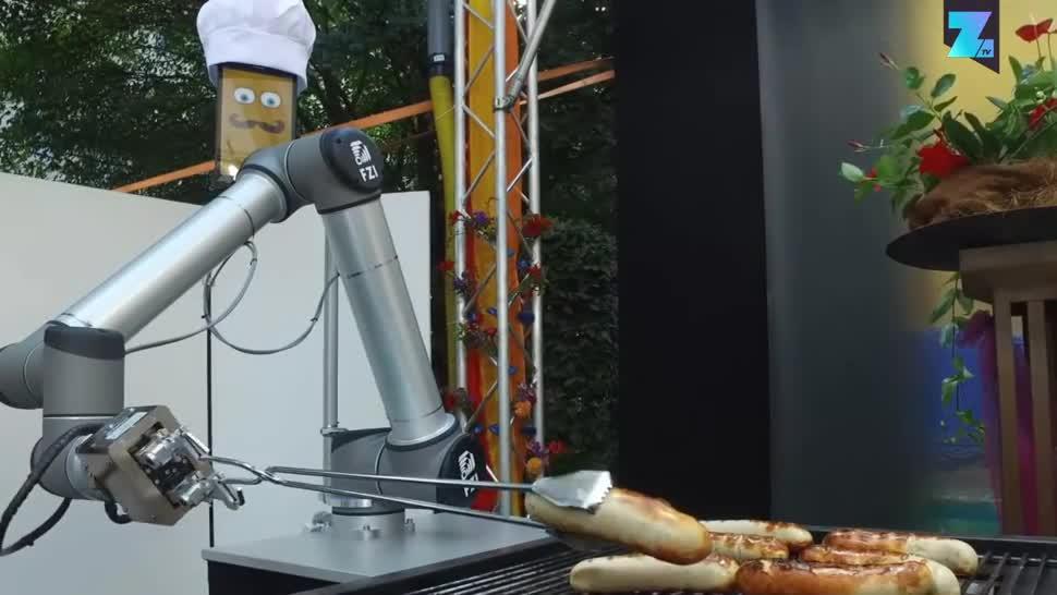 Zoomin, Roboter, Automatisierung, Maschine, BratWurst Bot, Grillen, Forschungszentrum Informatik, FZI