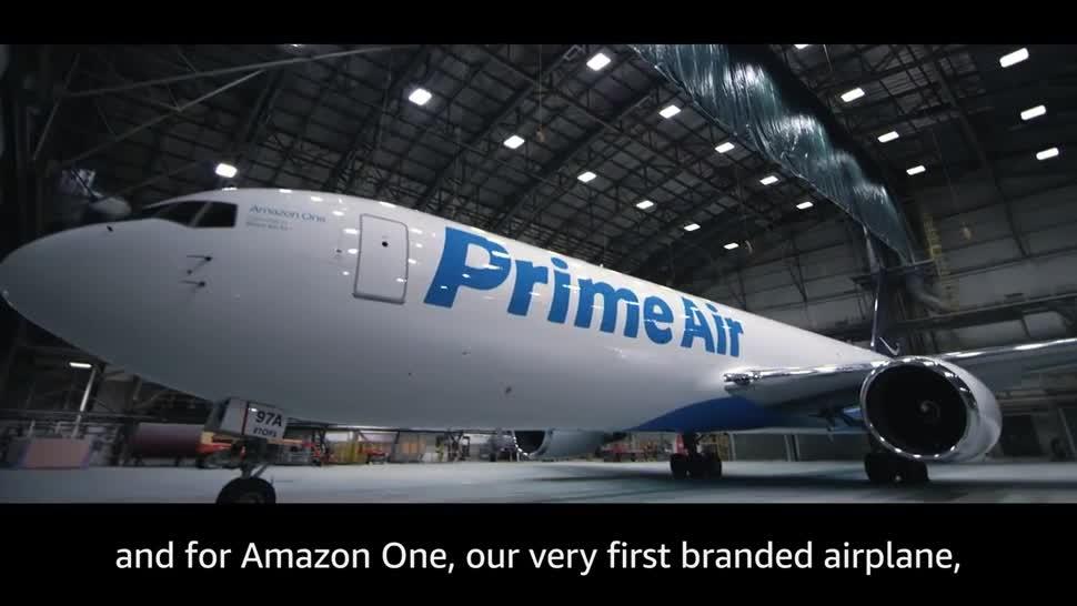 Amazon, Lieferung, Flugzeug, Boeing, Prime Air, Amazon One, Boeing 767-300