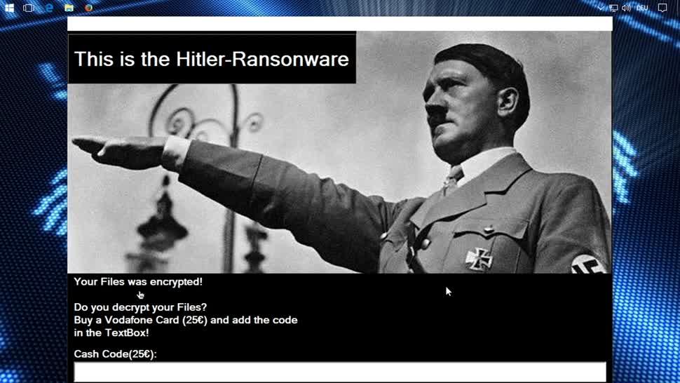 Sicherheit, Malware, SemperVideo, Ransomware, Hitler