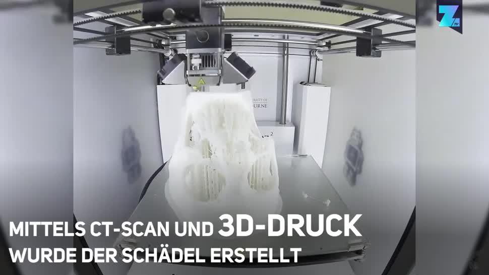Zoomin, Wissenschaft, 3D-Drucker, 3D-Druck, Wissenschaftler, Melbourne, Mumie, Universität Melbourne, CT-Scan