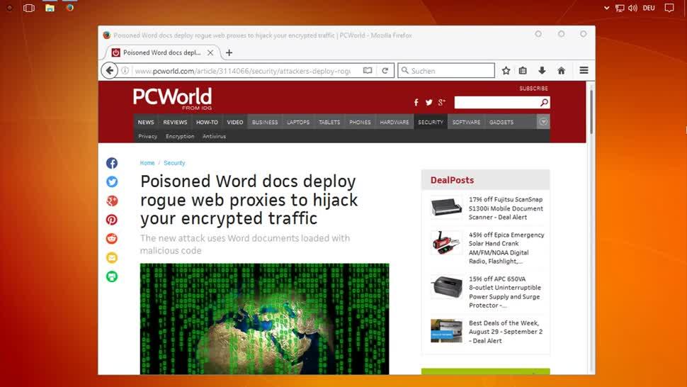 Microsoft, Malware, Schadsoftware, Word, SemperVideo, Viren, Proxy, Makros
