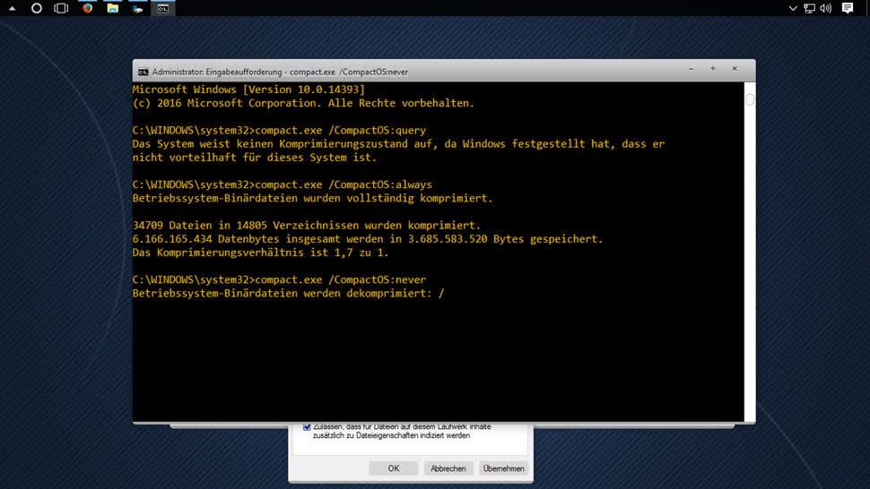 Windows, Windows 10, Speicherplatz, Komprimierung, Semper, CompactOS